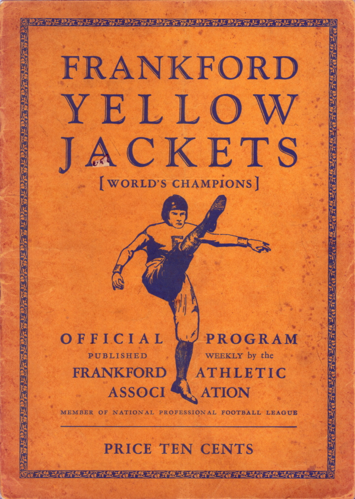 1927 Yellow Jackets Game Program with Triangles