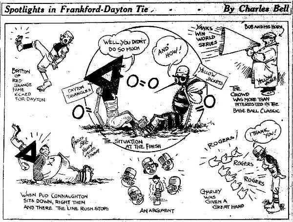 Philadelphia Inquirer: Dayton Triangles - Frankford Yellow Jackets 1927