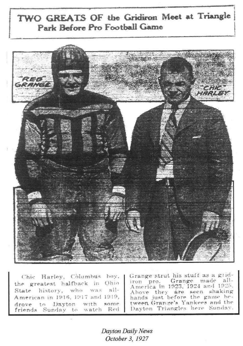 Red Grange and Chic Harley