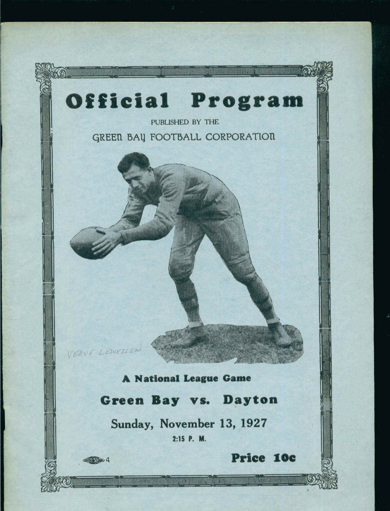 Green Bay Packers vs. Dayton Triangles 1927