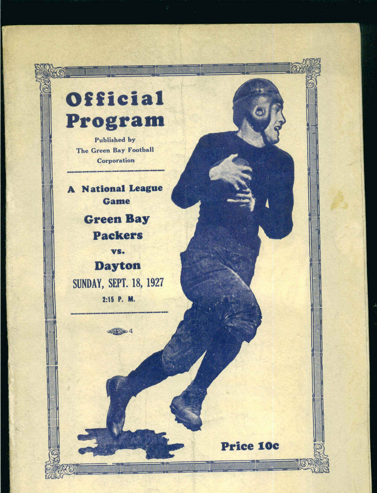 NFL - Green Bay Packers vs. Dayton Triangles, 1927