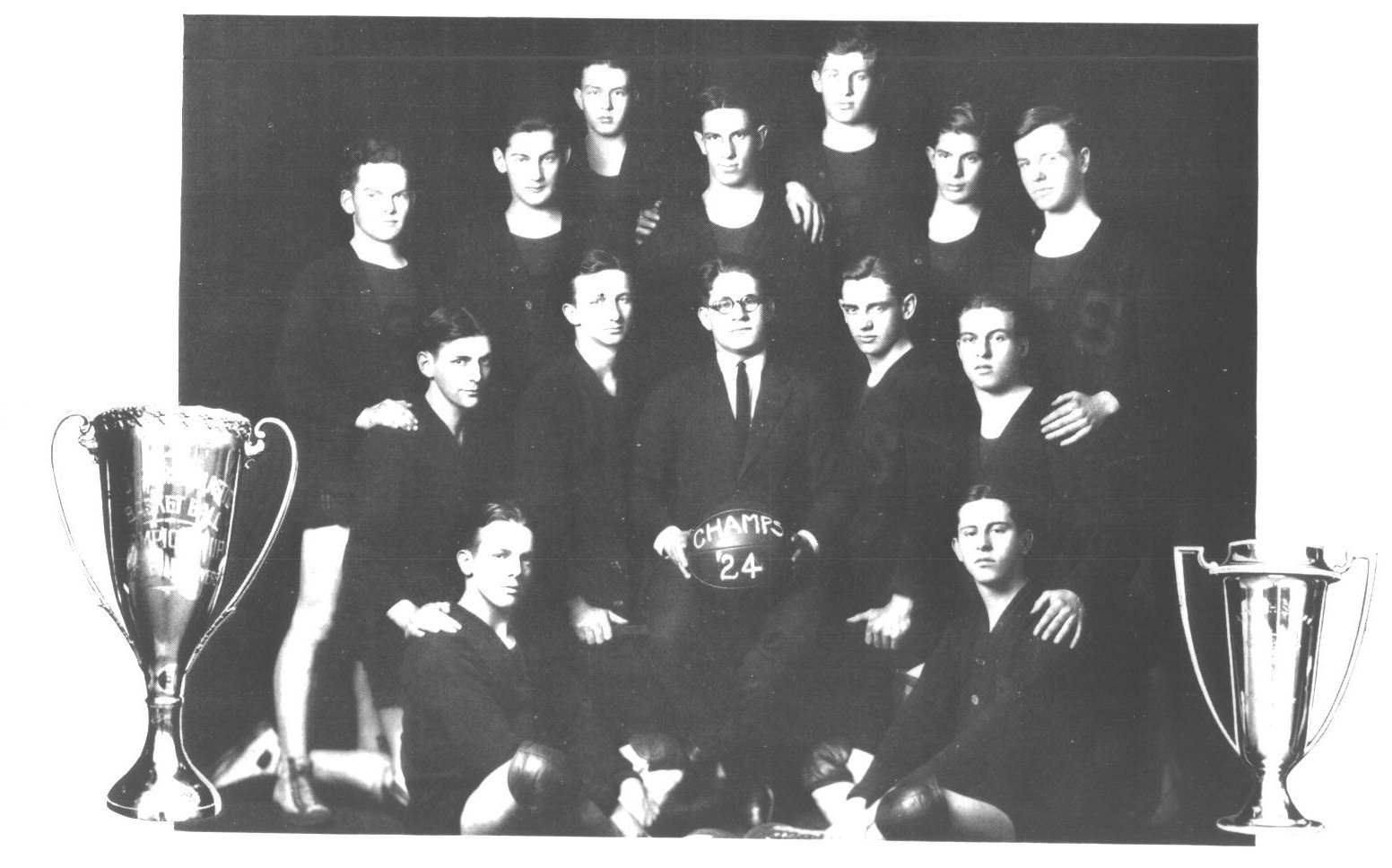 Stivers High School Basketball Team 1924